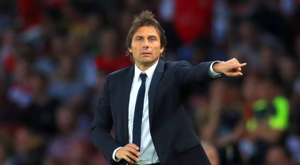 Antonio Conte, pictured, believes the clash with Jose Mourinho's Manchester United comes at the right moment