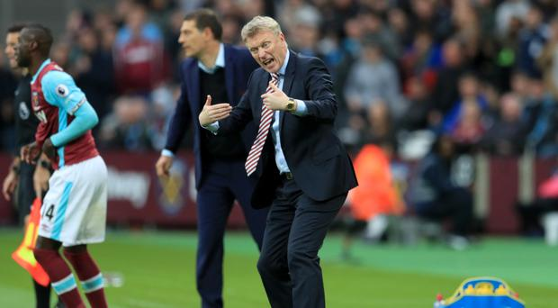 David Moyes was angry with the officials at the London Stadium
