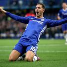 Eden Hazard was in fine form as Chelsea thrashed Manchester United