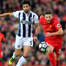 Adam Lallana, right, played his part in another Liverpool win