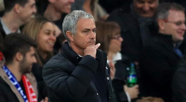 Manchester United manager Jose Mourinho saw his side beaten 4-0 at former club Chelsea on Sunday