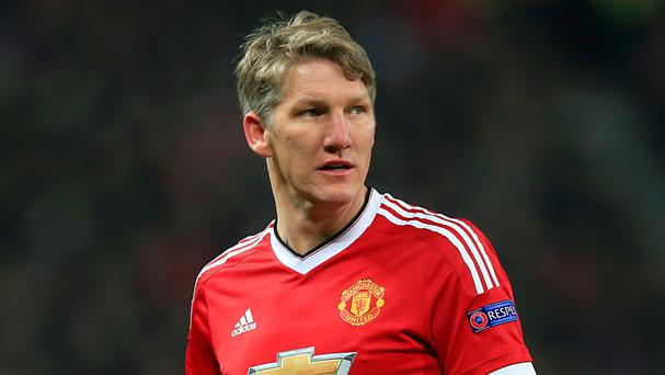 Bastian Schweinsteiger is back training with Manchester United