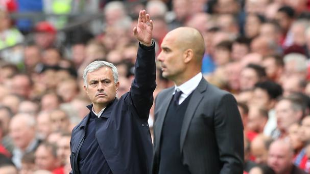 Jose Mourinho, left, and Pep Guardiola, right, lock horns again tonight