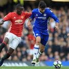 Eric Bailly suffered a knee injury as Manchester United lost at Chelsea