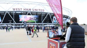 There were 5,200 Chelsea fans at London Stadium and there are only away followings that big for cup games Picture: PA