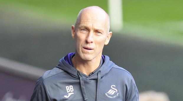 Bob Bradley is seeking the 'bounce' effect he looks for his first win as Swansea manager at Stoke on Monday night