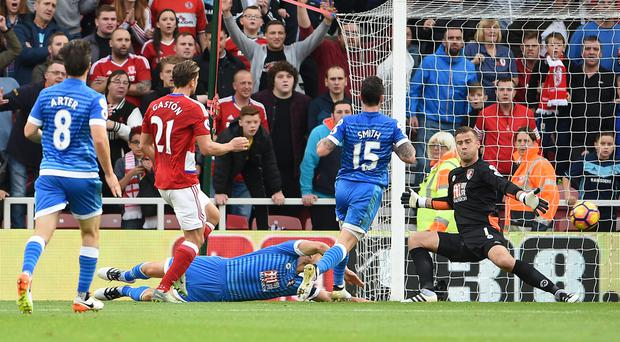 Gaston Ramirez opened the scoring in stunning style for Boro