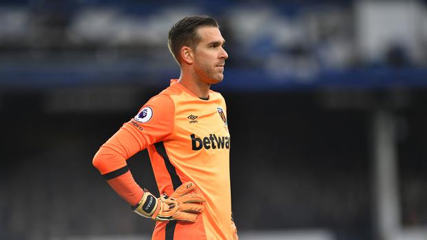 Adrian in action for West Ham.