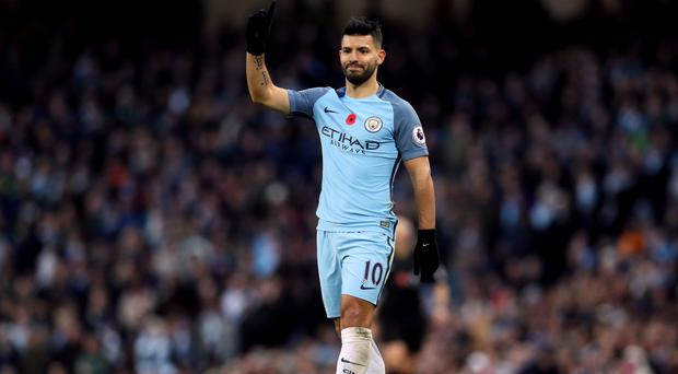 Manchester City's Sergio Aguero scored the opening goal of the game