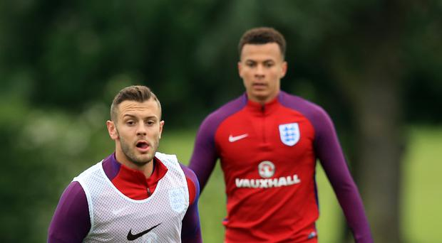 Jack Wilshere (left) is back in the England squad
