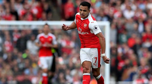 Alexis Sanchez has been operating as a central striker for Arsenal this season
