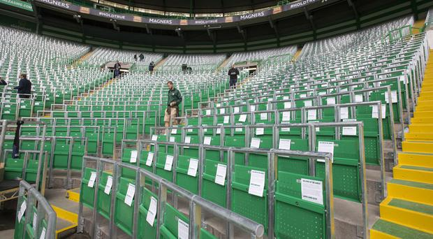Celtic have introduced a safe-standing section into their stadium