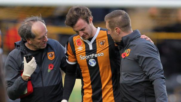 Will Keane had to be helped from the pitch after suffering the knee injury