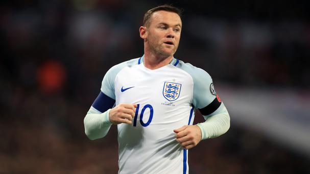 Wayne Rooney was ruled out of England's friendly with Spain due to a knee injury