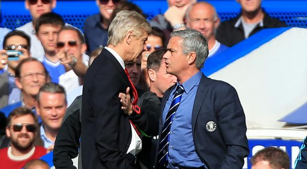Arsene Wenger, left, and Jose Mourinho, right, go head-to-head again this weekend