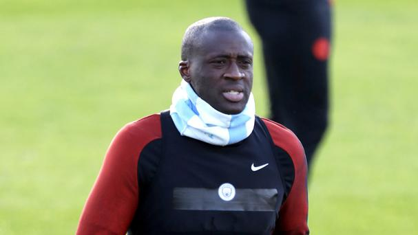 Manchester City's Yaya Toure is back in the starting line-up