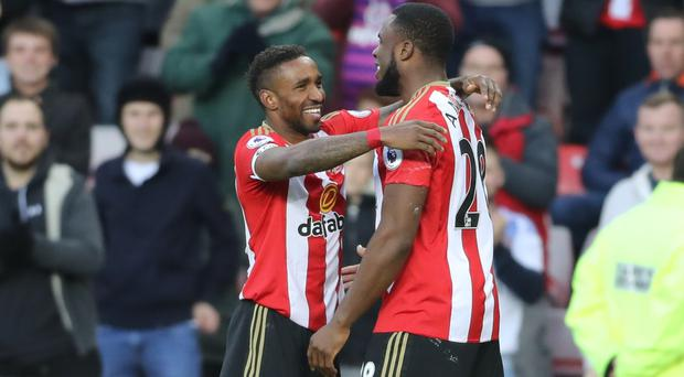 Jermain Defoe, left, and Victor Anichebe scored Sunderland's goals