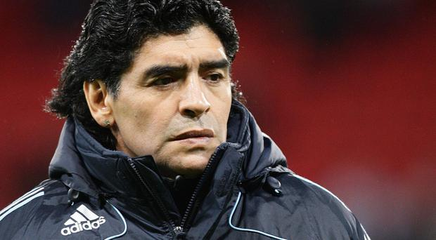 Diego Maradona, pictured, picked up the phone and dialled Jose Mourinho