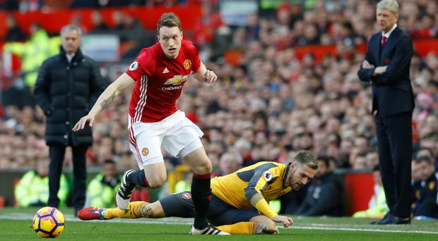 Manchester United defender Phil Jones made his second appearance of the season on Saturday