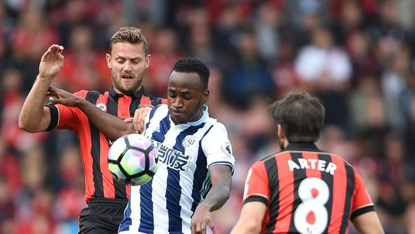 Saido Berahino's most recent appearance for West Brom came against Bournemouth in September