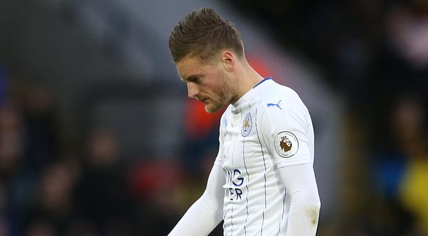 Leicester's England striker Jamie Vardy has scored just four times for club and country this season