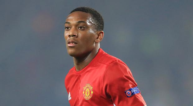 Anthony Martial was left out of Manchester United's squad for the Europa League clash with Feyenoord