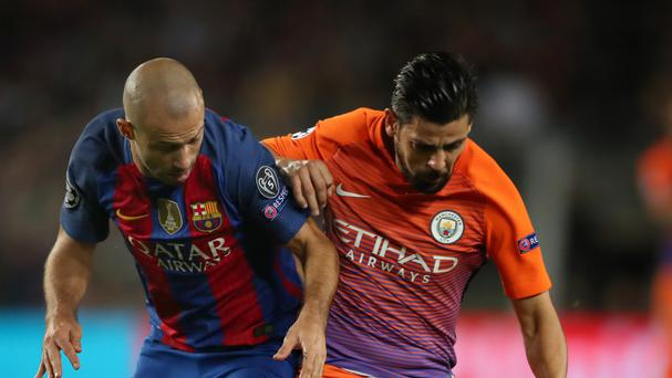 Nolito, right, hopes to reach the Champions League final with Manchester City