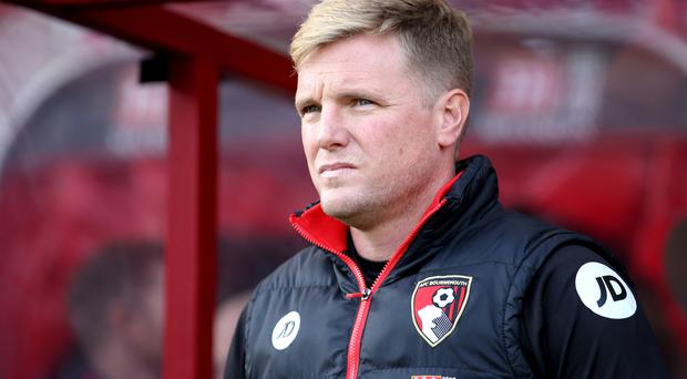 Eddie Howe's Bournemouth head to the Emirates Stadium boosted by last weekend's 1-0 win at Stoke