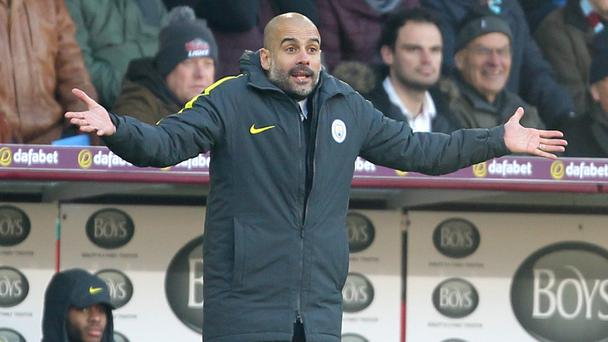 Pep Guardiola was pleased to see his team dig out victory at Turf Moor