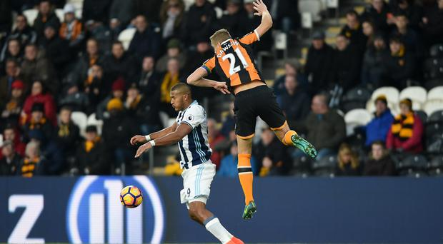 Salomon Rondon, left, missed one of a number of late chances for West Brom who had to settle for a draw at Hull