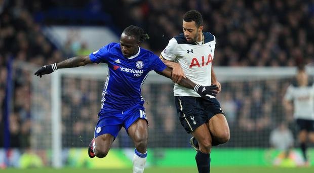 Chelsea's Victor Moses, left, scored the winner to cap an impressive display