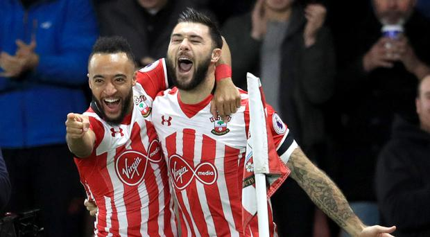 Southampton's Charlie Austin, right, scored the winner
