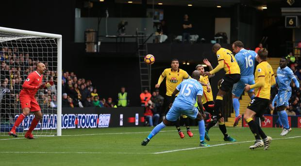 Charlie Adam's header helped secure Stoke's 1-0 win at Watford