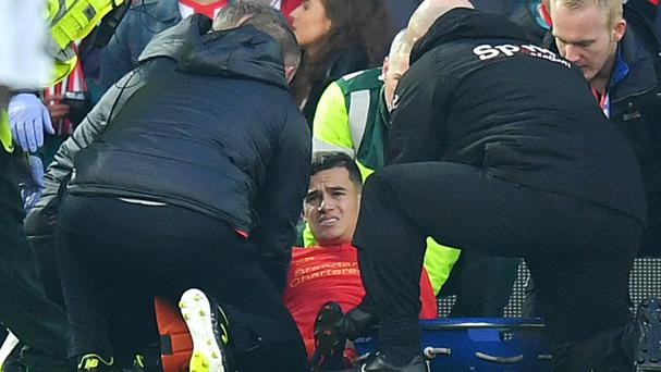 Philippe Coutinho suffered an ankle injury against Sunderland