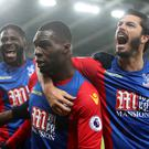 Christian Benteke scored two of Crystal Palace's goals in their 3-0 defeat of Southampton