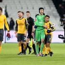 Petr Cech believes Arsenal are handling the pressure well