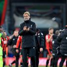 Jurgen Klopp insisted he was not angry after Liverpool's loss at Bournemouth