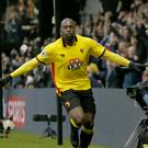 Watford's Stefano Okaka scored twice in the defeat of Everton