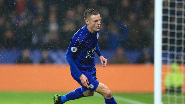 Jamie Vardy bagged a hat-trick for Leicester against Manchester City