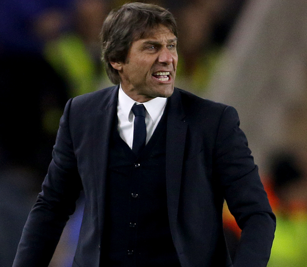 Chelsea manager Antonio Conte looks to have his players on his side