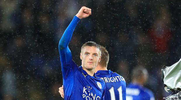 Jamie Vardy claimed the match ball after his hat-trick on Saturday