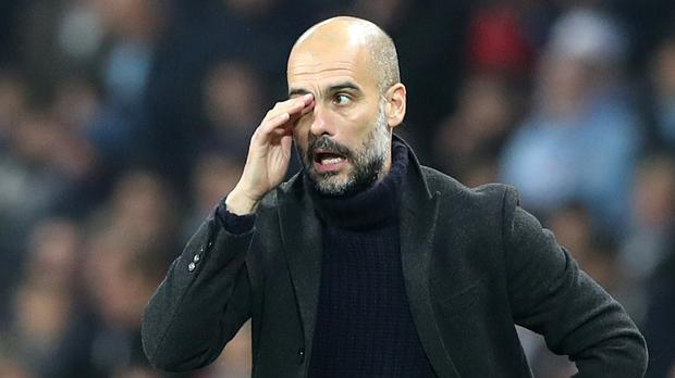 Manchester City manager Pep Guardiola has problems to solve at the back