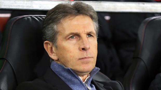 Claude Puel, pictured, is not tempted to rush into the transfer window next month despite Charlie Austin's lengthy injury