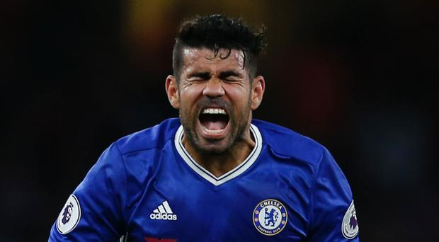 Diego Costa has increased his goals tally while improving his discipline. Photo: Getty