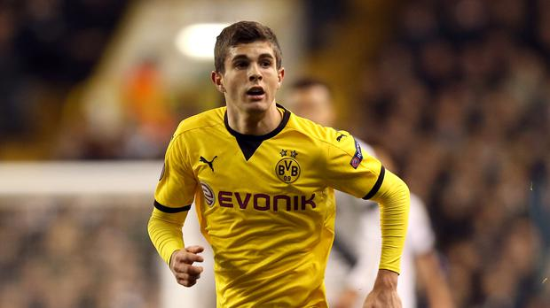 Borussia Dortmund's Christian Pulisic has been linked with a move to Liverpool