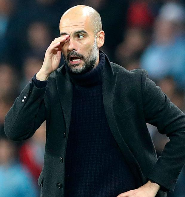 Pep Guardiola's City side have lost their last two league games Picture: PA