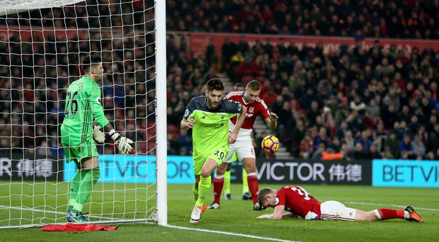 Adam Lallana netted twice for Liverpool