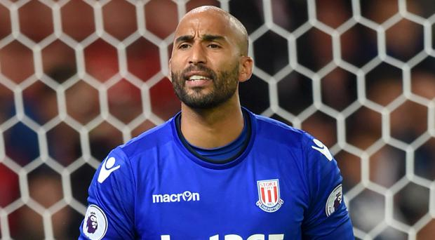 Lee Grant has made 12 appearances for Stoke after joining on loan from Derby in August
