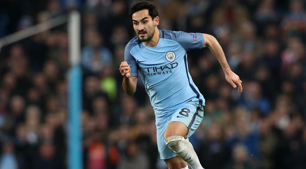Manchester City's Ilkay Gundogan is likely to miss the rest of the season