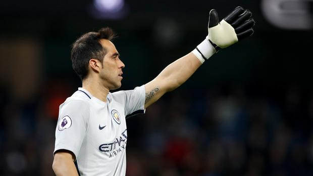Claudio Bravo has told manager Pep Guardiola he is happy at Manchester City